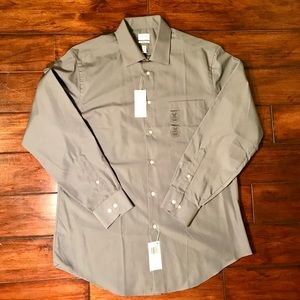 NEW Mens dress shirt - 16-16.5 34-35 in Gray 👔